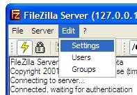 screenshot filezilla edit settings
